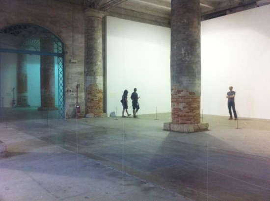 Installation view of architecture as air study for château la coste 2010 at the 12th venice architecture biennale people meet in architecture